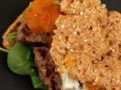 Panino rustico burger manzo, gorgonzola piccante composta zucca zenzero
