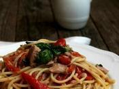 Spaghetti tonno peperoni alla siciliana Menù lib(e)ro