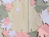 Crea ghirlanda foglie carta
