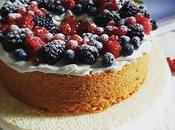 Chiffon cake barbabietola frutti bosco