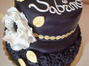 torta nera elegante