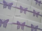 Inviti Prima Comunione tema farfalle toni lilla