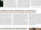 Viene dall'Africa prima «Dichiarazione» diritti umani. prefazione Cécile Kyenge libro narra dramma dell'allontanamento dalla propria terra (Riforma, ottobre 2018)