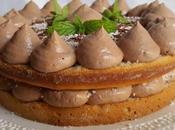 Torta crema cioccolato cocco
