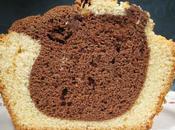 Plum cake bicolore fast easy