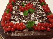 Torta cioccolato, cocco ribes