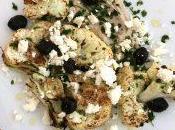 #VEGGYME Bistecche cavolfiore hummus, feta olive