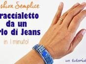 Come fare braccialetto jeans minuto