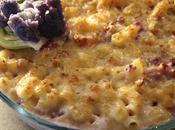 Inverno Primavera Pasta Forno Cavolfiore viola Salsa Formaggio Purple Cauliflower Macaroni Cheese
