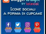 Icone sociali forma cupcake
