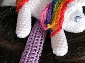 Cerchietto unicorno uncinetto schema