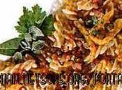 Pasta, peperoni lenticchie