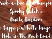 Peek-a-Boo Slot canyon, Spooky Gulch Devils Garden: tappe belle lungo Hole Rock Road