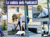Federica Panicucci cade tacchi Milano!