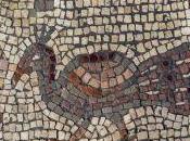 Israele, mosaico moltiplicazione pani pesci