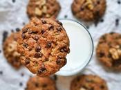 """Ricetta """"Cookies allla banana, noci gocce cioccolato"""", senza uova burro, buoni impazzire!"""