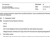 Suzuka: perchè della non-penalizzazione Vettel