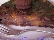 Torta pesche, amaretti cacao