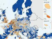 Quali sono regioni d'Europa alta bassa densità popolazione