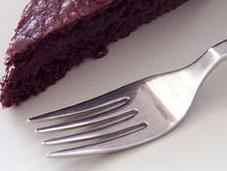 Choco+cherry light cake