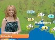 Kylie Minogue, meteorologa Dolce Gabbana