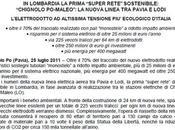 Terna, Flavio Cattaneo: luglio 2011 arriva l'elettrodotto altissima tensione ecologico d'Italia
