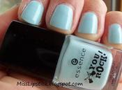 NOTD Essence Speed Light Blue Review Swatches