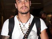 Fabrizio Palenzona Pablo Daniel Osvaldo, nuovo acquisto della Roma, giunto all'aeroporto Leonardo Vinci