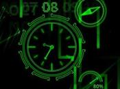 Neon Clock nuovo Live wallpaper Sfondo animato gratis smartphone Android