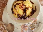 Gelato alla crema cioccolata calda! benvenuto all'autunno