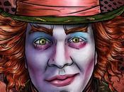 illustrazioni digitali tema Alice Wonderland