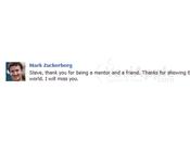 Mark Zuckerberg Facebook dedica frase Steve profilo