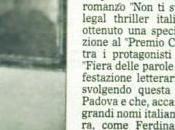 """interessanti casi letterari italiani dell'anno"""" Gazzettino, Ottobre 2011"""