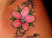 """tatuaggio botanico"""" fiori ciliegio"""