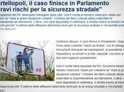 """""""Caso Cartellopoli"""" finisce Parlamento"""
