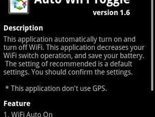 Aumentare durata della batteria dello smartphone Auto WIFI Toggle