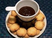 Pasticcini cocco fonduta cioccolato