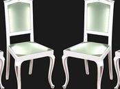 Sedie plexiglass luminose illuminazione barocco laccate bianche argento design myArtistic