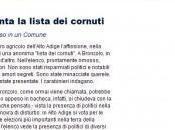 Alto Adige, spunta lista cornuti