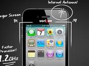 iPhone Verizon schermo largo antenna integrata?
