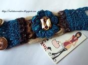Bangles tessuto strass crochet…..