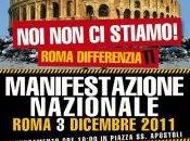 Roma differenzati Manifestazione Nazionale dicembre