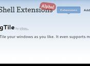 gTile Gnome l'estensione organizzare finestre