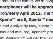 famiglia Xperia Sony Ericsson sarà aggiornata Cream Sandwich Aprile 2012