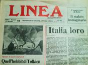 poster ispirato Tolkien inserto quindicinale Linea 1979