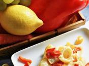 Lumache cremose peperoni tricolor