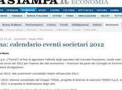 Flavio Cattaneo (Terna): febbraio 2012 dati preliminari consolidati relativi all'esercizio 2011