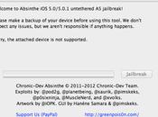 Guida passo Jailbreak Absinthe IPhone IPad [aggiornata]