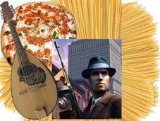 Schettino, pizza, mafia, spaghetti, Berlusconi, baffi