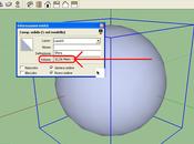 Area volume della sfera SketchUp